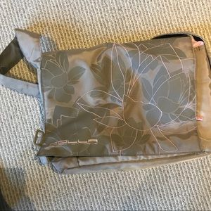 Golla pink beige padded laptop bag with pockets